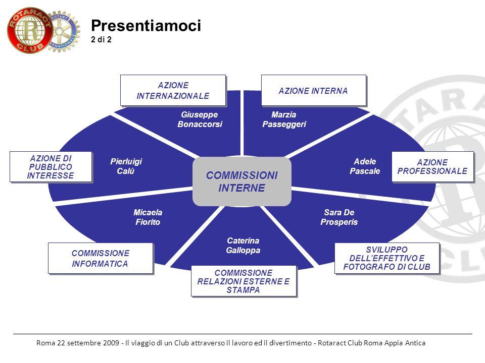 Roma 22 settembre 2009 - Il viaggio di un Club attraverso il lavoro ed il divertimento - Rotaract Club Roma Appia Antica Presentiamoci 2 di 2 COMMISSI