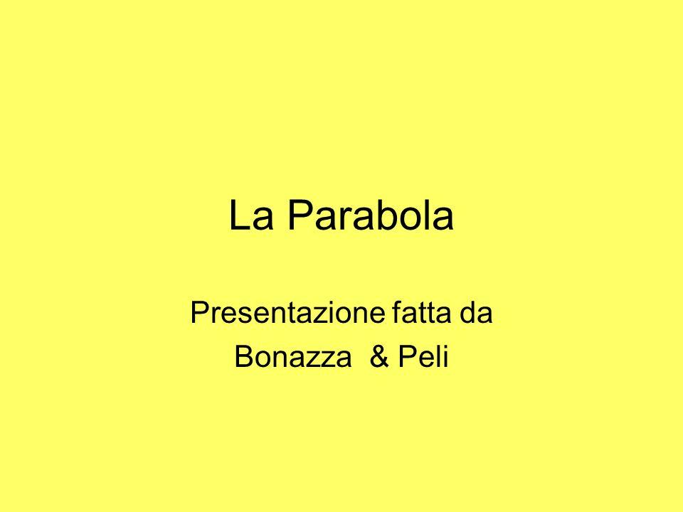 La Parabola Presentazione fatta da Bonazza & Peli