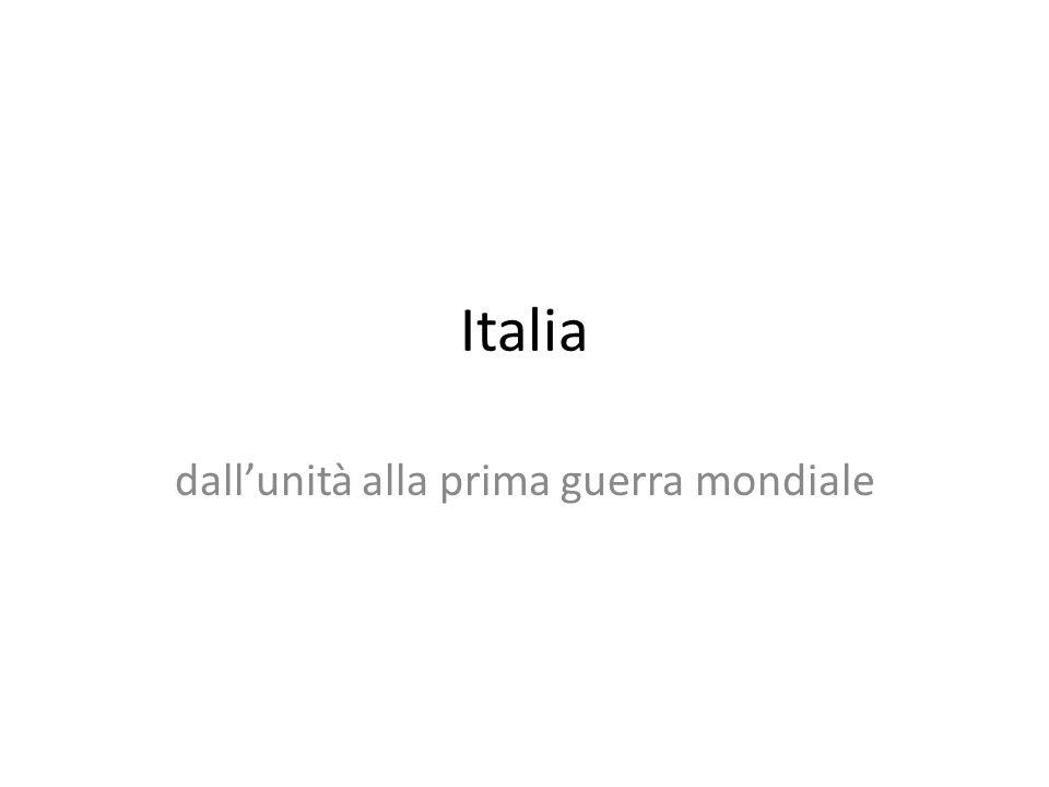 Italia dallunità alla prima guerra mondiale