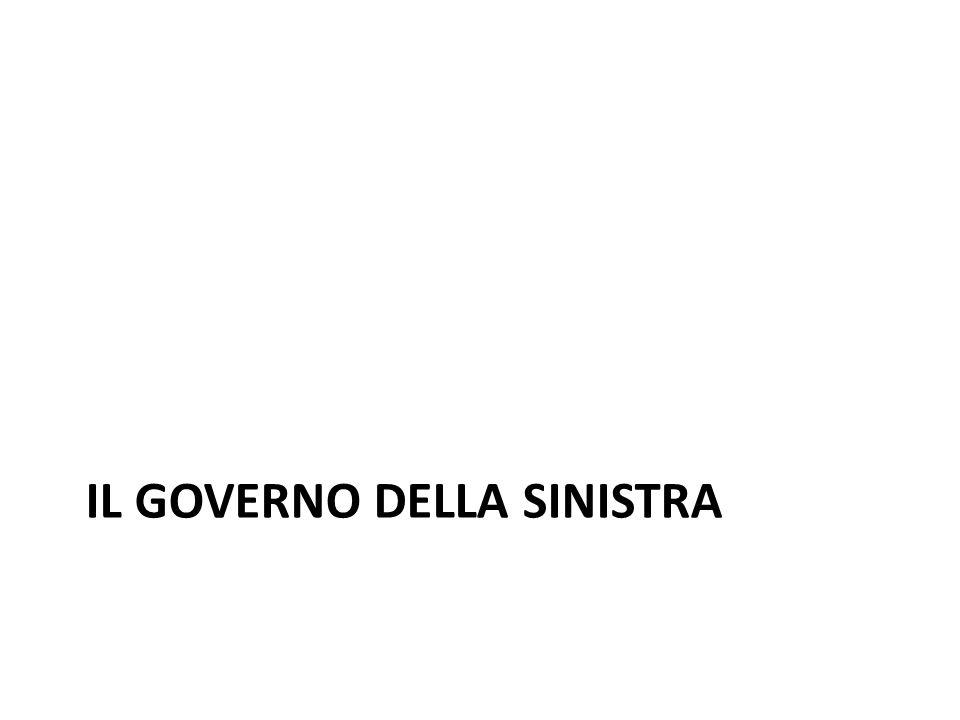 IL GOVERNO DELLA SINISTRA