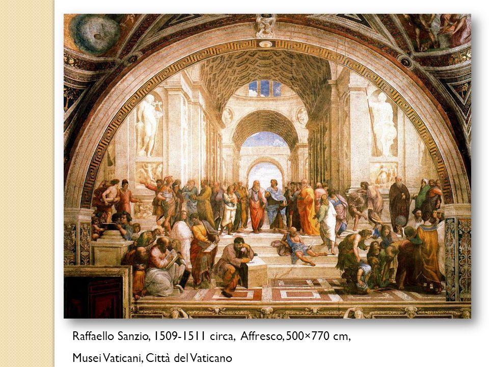 Raffaello Sanzio, 1509-1511 circa, Affresco, 500×770 cm, Musei Vaticani, Città del Vaticano