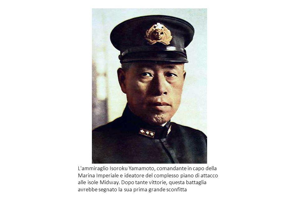 L'ammiraglio Isoroku Yamamoto, comandante in capo della Marina Imperiale e ideatore del complesso piano di attacco alle isole Midway. Dopo tante vitto