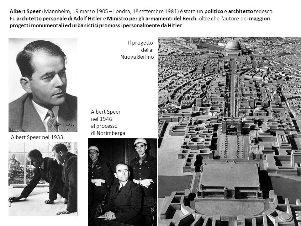 Albert Speer nel 1933. Albert Speer (Mannheim, 19 marzo 1905 – Londra, 1º settembre 1981) è stato un politico e architetto tedesco. Fu architetto pers