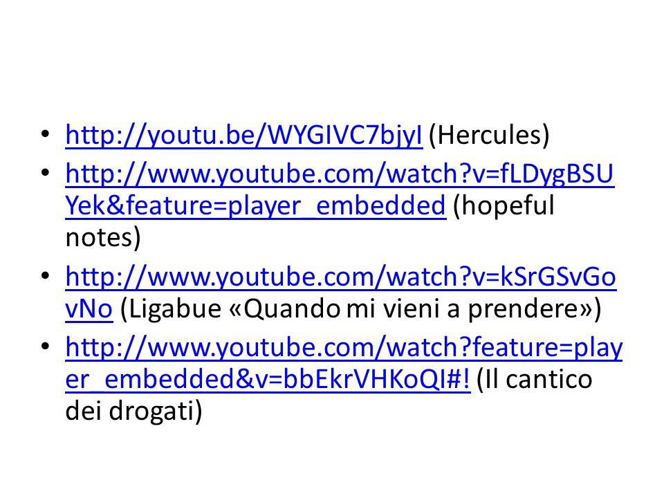http://youtu.be/WYGIVC7bjyI (Hercules) http://youtu.be/WYGIVC7bjyI http://www.youtube.com/watch?v=fLDygBSU Yek&feature=player_embedded (hopeful notes)