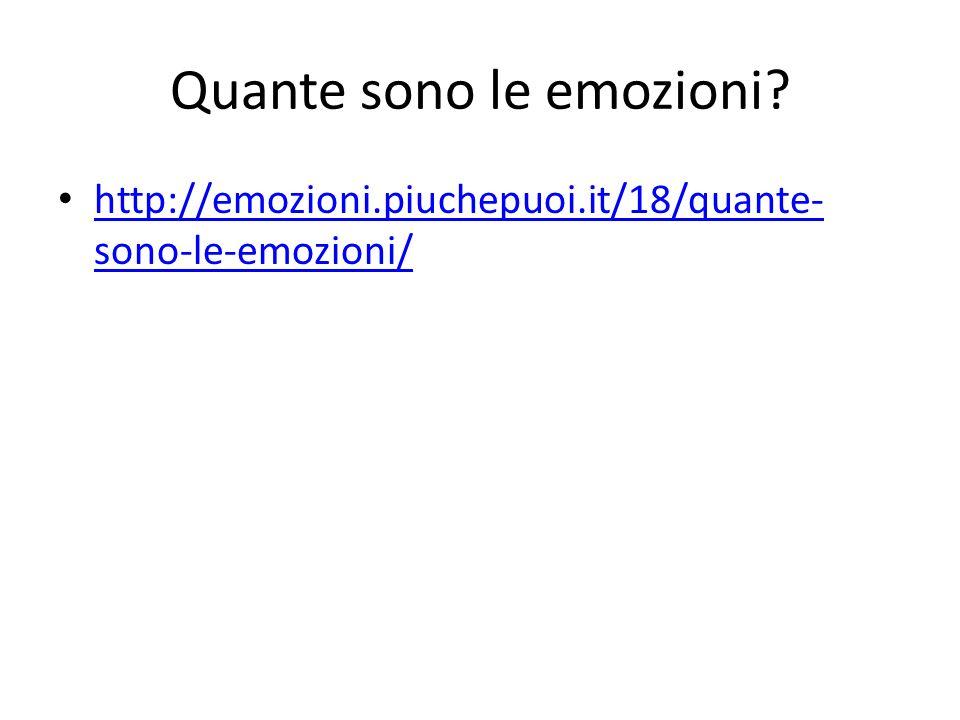 Quante sono le emozioni.