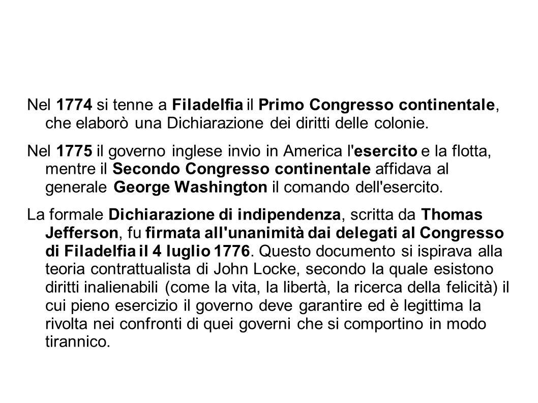 Copia della dichiarazione d indipendenza degli Stati Uniti, stesa su carta di canapa