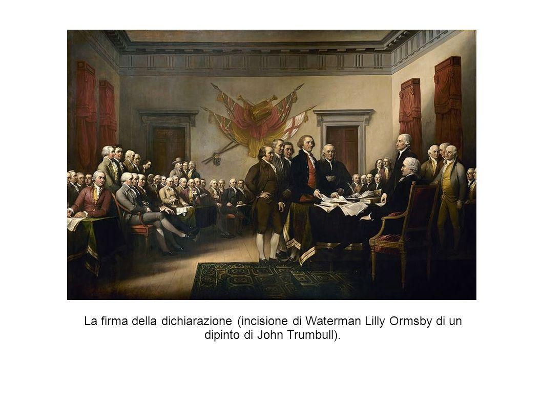 La vittoria delle colonie La guerra di indipendenza delle colonie inglesi contro la madrepatria durò quasi otto anni, dal 1775 al 1783.