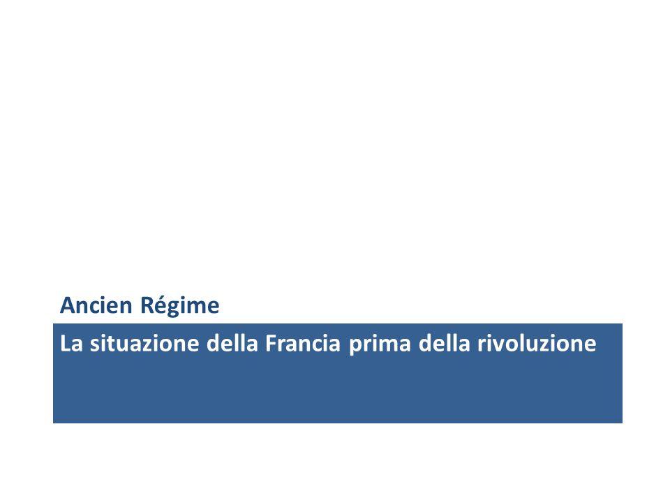 La situazione della Francia prima della rivoluzione Ancien Régime