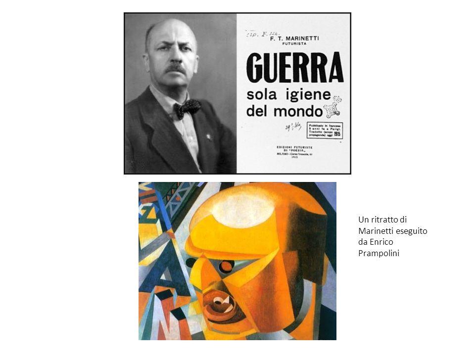 Un ritratto di Marinetti eseguito da Enrico Prampolini