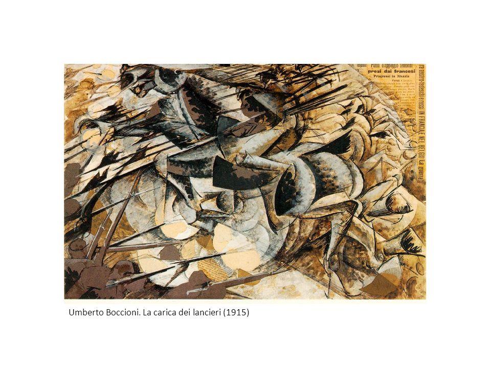 Umberto Boccioni. La carica dei lancieri (1915)