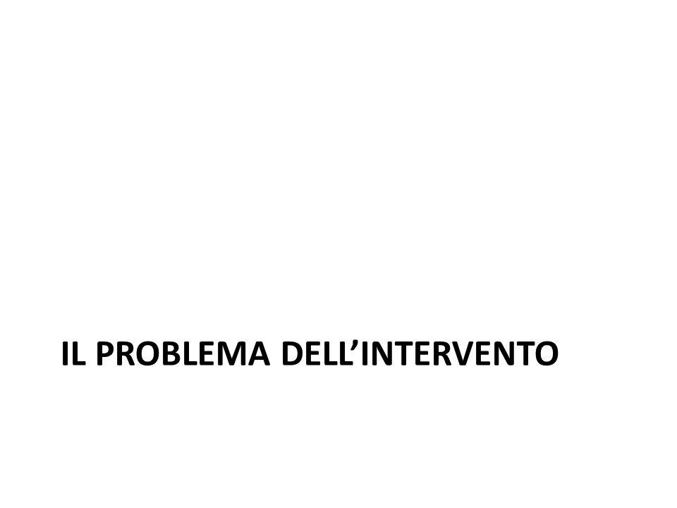 IL PROBLEMA DELLINTERVENTO