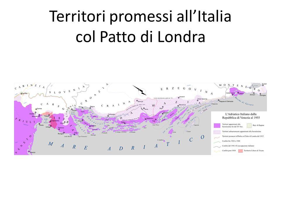 Territori promessi allItalia col Patto di Londra