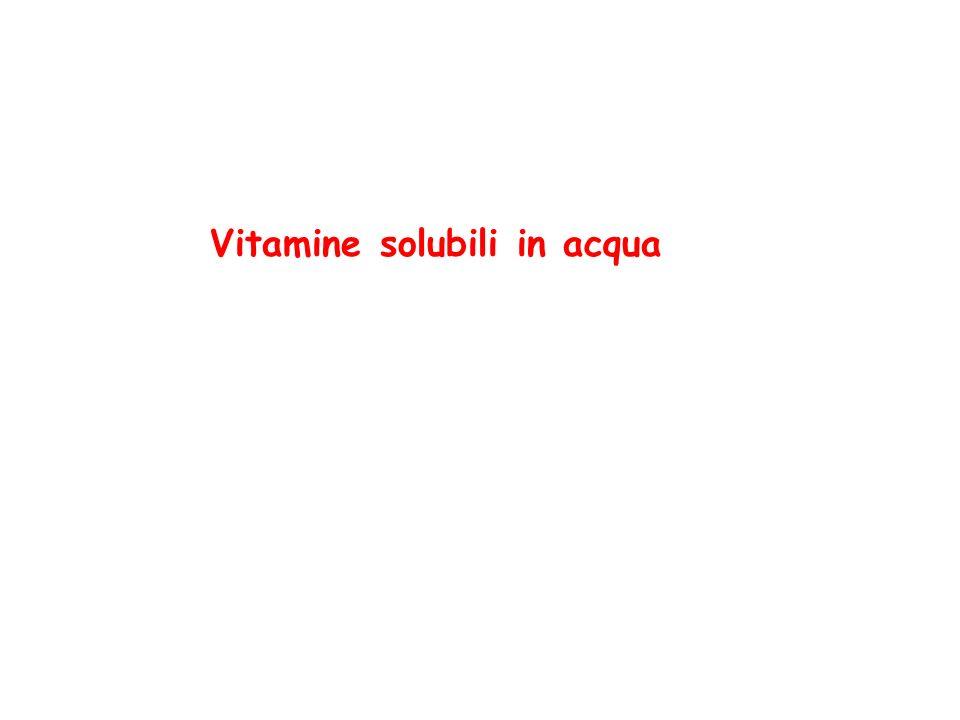 Vitamina B 1 (Tiammina) la tiammina pirofosfato (TPP) partecipa come coenzima al trasferimento di gruppi aldeidici attivi, per esempio nella decarbossilazione ossidativa di - chetoacidi e nella formazione e scissione di idrossichetoni.