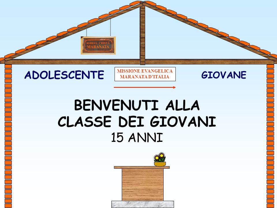 GIOVANE ADOLESCENTE BENVENUTI ALLA CLASSE DEI GIOVANI 15 ANNI MISSIONE EVANGELICA MARANATA DITALIA