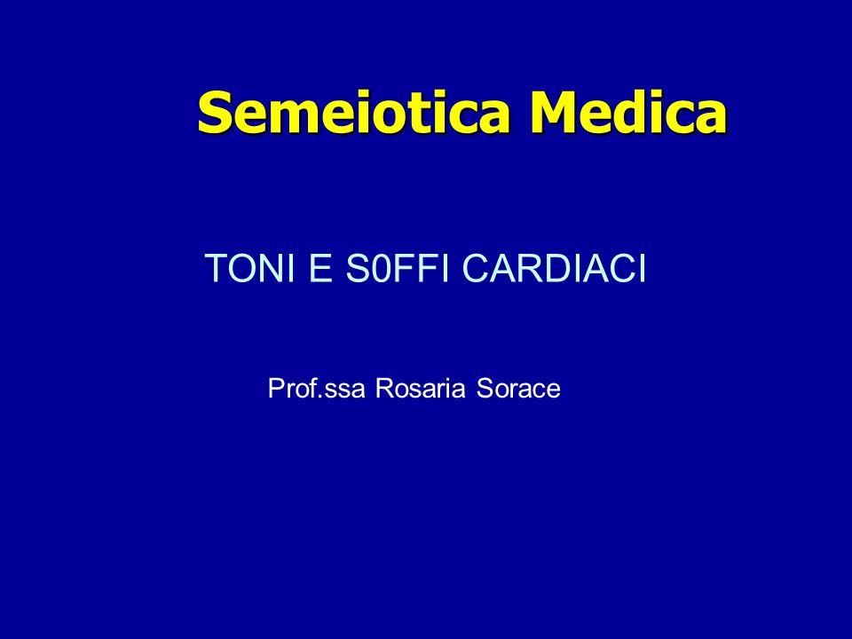 TONI E S0FFI CARDIACI Prof.ssa Rosaria Sorace Semeiotica Medica