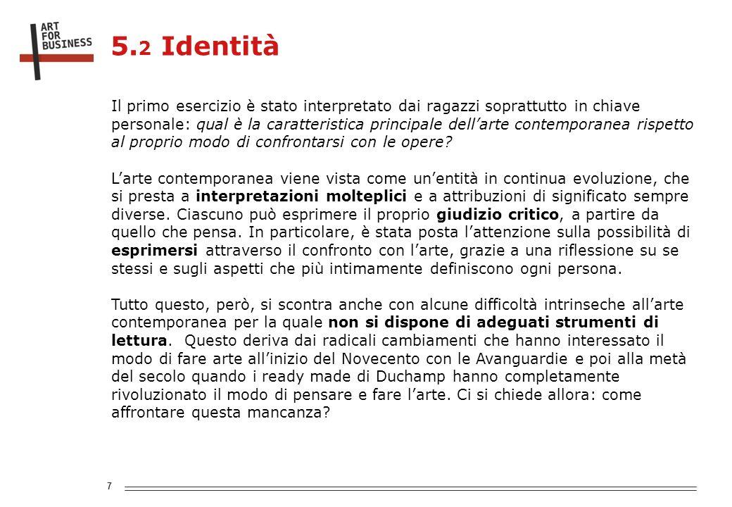 8 5. 3 Identità Qual è la caratteristica principale di Milano?