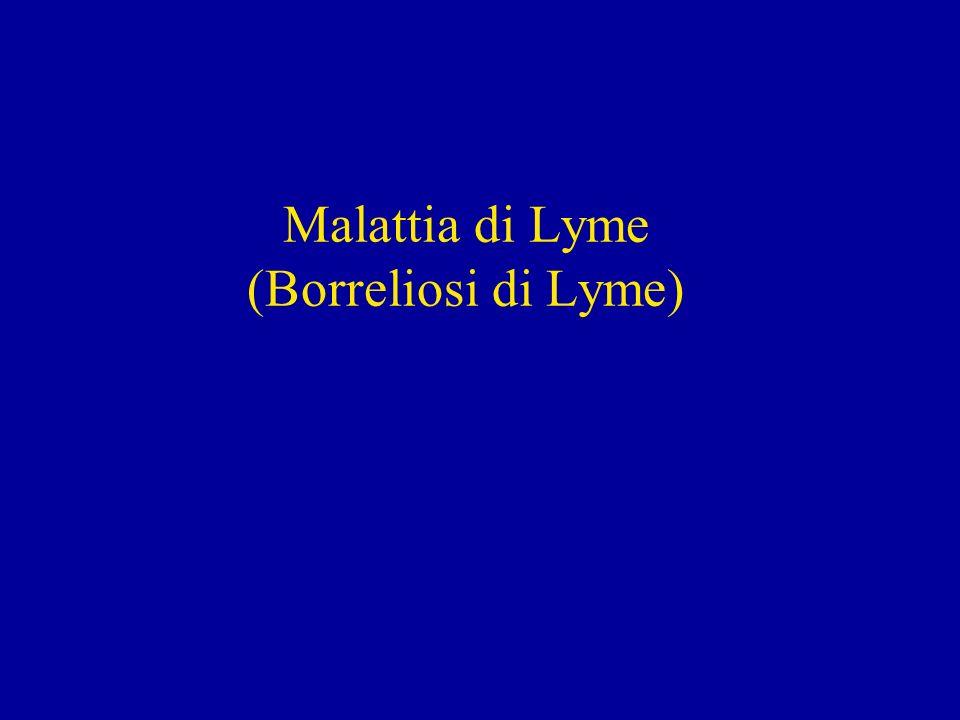Malattia di Lyme (Borreliosi di Lyme)