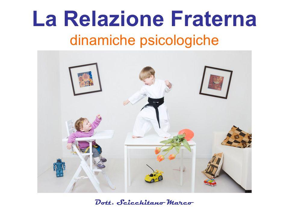 Dott. Scicchitano Marco La Relazione Fraterna dinamiche psicologiche