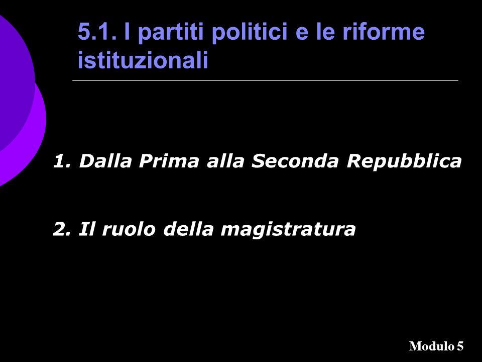 5.1.I partiti politici e le riforme istituzionali 1.