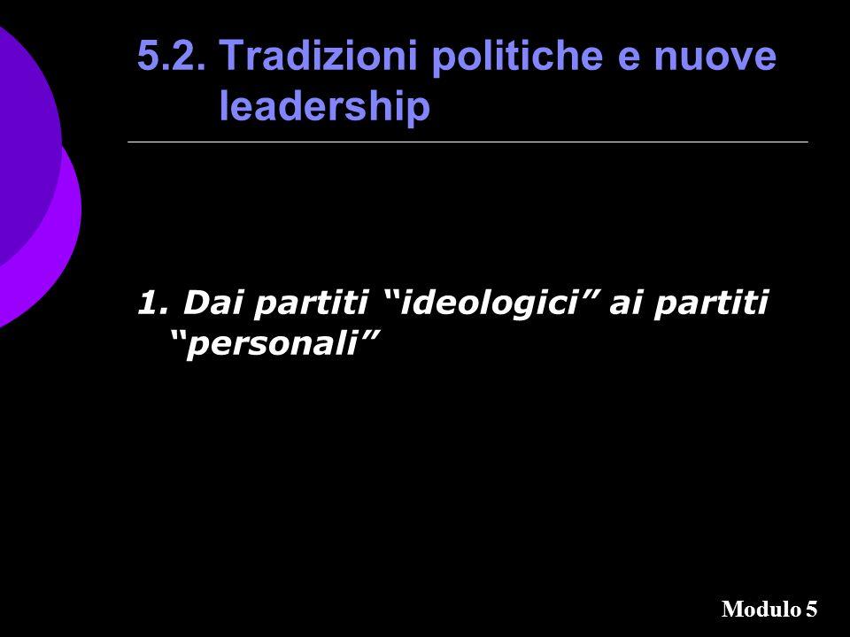 5.2.Tradizioni politiche e nuove leadership 1.