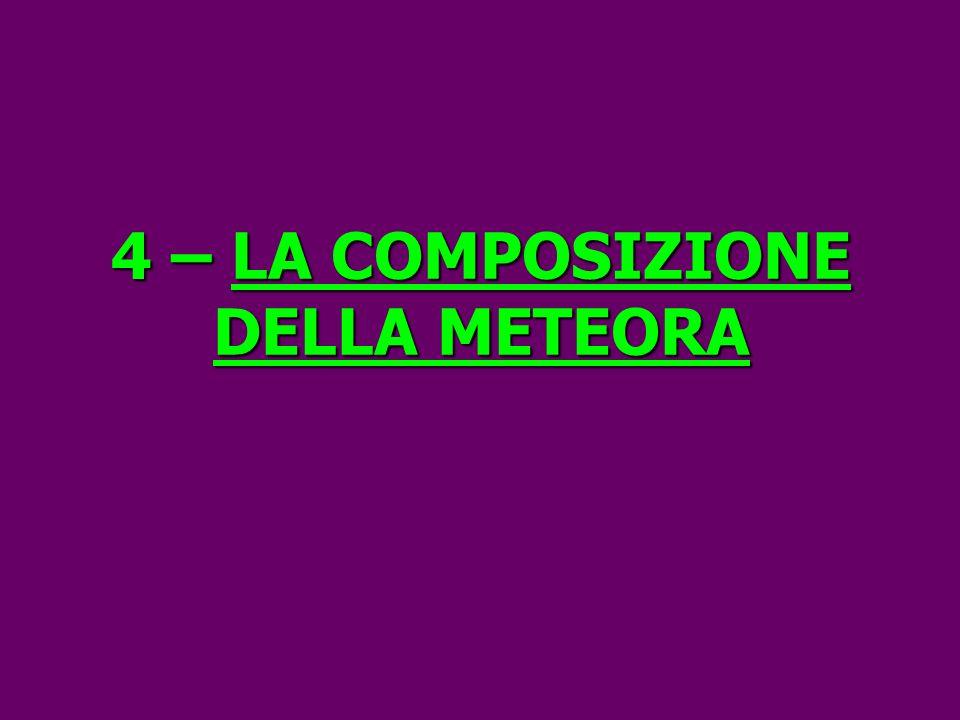 4 –LA COMPOSIZIONE DELLA METEORA 4 – LA COMPOSIZIONE DELLA METEORA