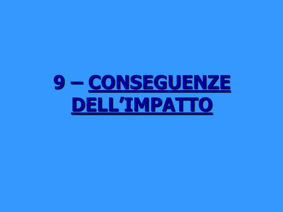 9 – CONSEGUENZE DELLIMPATTO