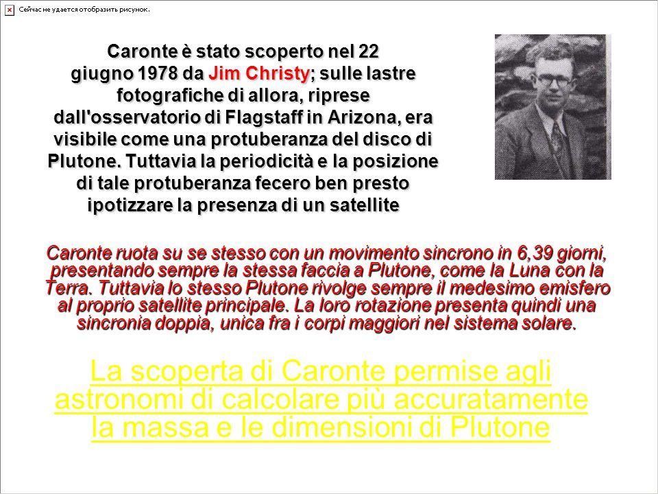 Caronte è stato scoperto nel 22 giugno 1978 da Jim Christy; sulle lastre fotografiche di allora, riprese dall'osservatorio di Flagstaff in Arizona, er