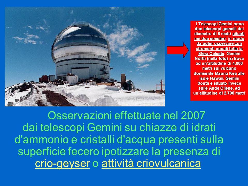 I Telescopi Gemini sono due telescopi gemelli del diametro di 8 metri situati nei due emisferi, in modo da poter osservare con strumenti uguali tutta