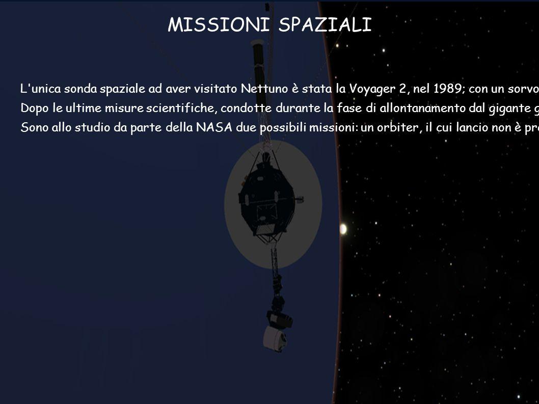 L'unica sonda spaziale ad aver visitato Nettuno è stata la Voyager 2, nel 1989; con un sorvolo ravvicinato del pianeta la Voyager ha permesso di indiv