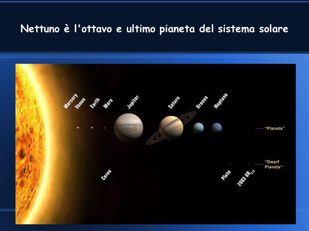 Nettuno è l'ottavo e ultimo pianeta del sistema solare