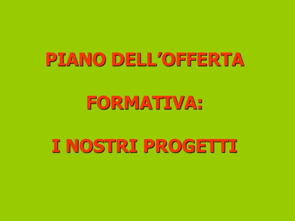 PIANO DELLOFFERTA FORMATIVA: I NOSTRI PROGETTI