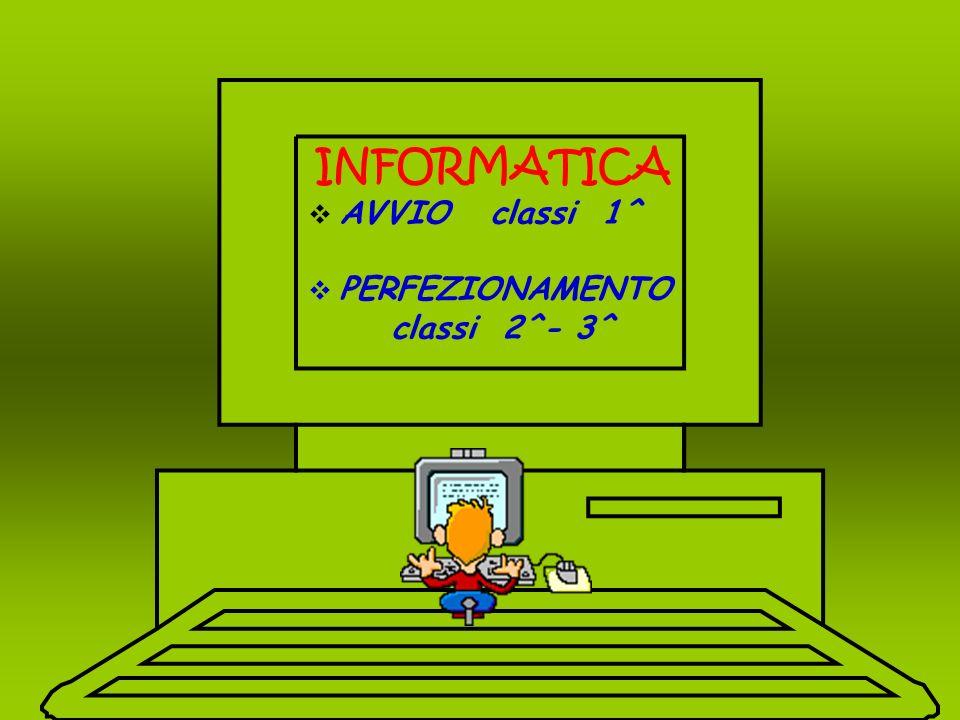 INFORMATICA AVVIO classi 1^ PERFEZIONAMENTO classi 2^- 3^