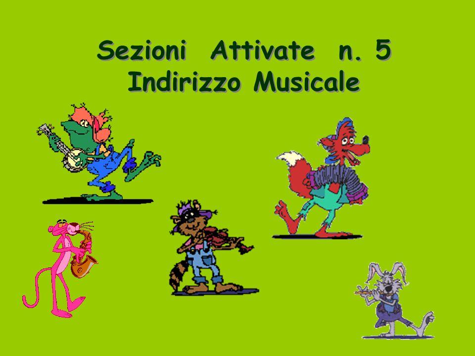 Sezioni Attivate n. 5 Indirizzo Musicale