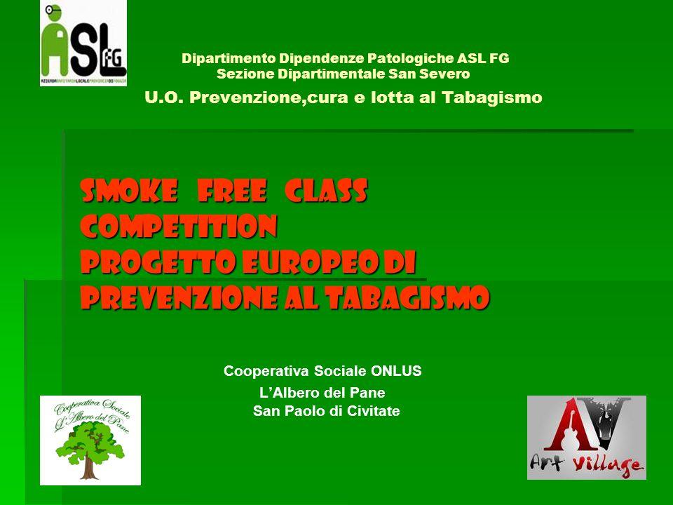 Dipartimento Dipendenze Patologiche ASL FG Sezione Dipartimentale San Severo U.O. Prevenzione,cura e lotta al Tabagismo SMOKE FREE CLASS COMPETITION P
