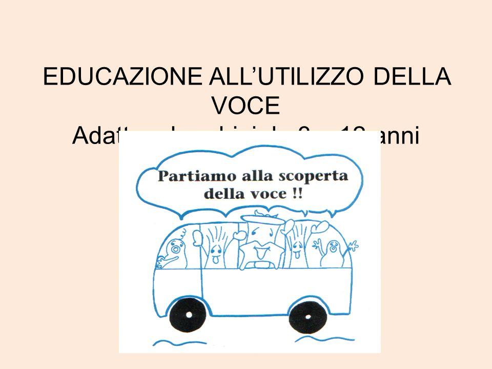EDUCAZIONE ALLUTILIZZO DELLA VOCE Adatto a bambini da 3 a 12 anni