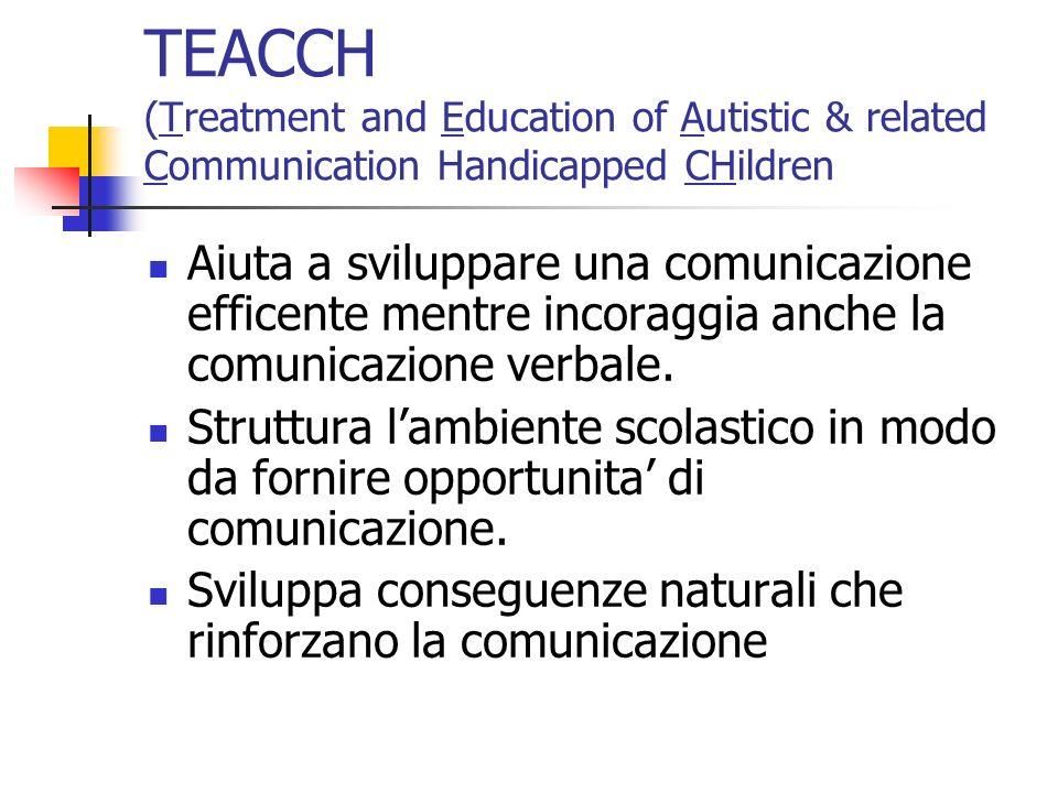 TEAACH (continua) Foto e disegni-simbolo che vengono usati per lorario giornaliero a scuola.