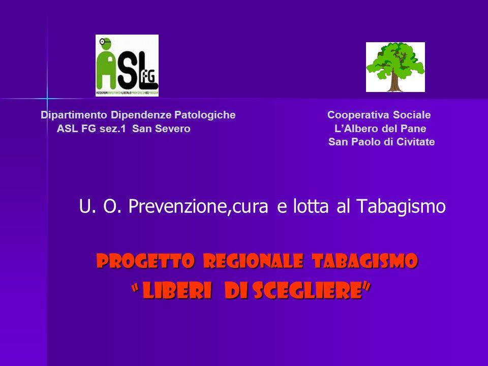 Dipartimento Dipendenze Patologiche Cooperativa Sociale ASL FG sez.1 San Severo LAlbero del Pane San Paolo di Civitate U.