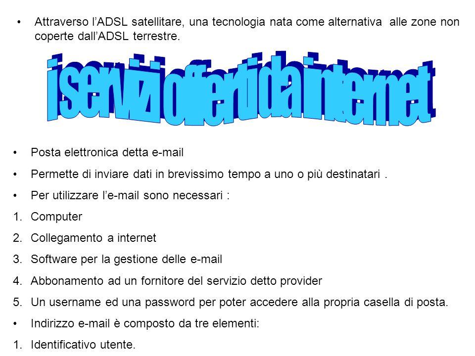 1.Il simbolo @ 2.Il dominio cioè il riferimento al proprio provider Come avviene linvio un messaggio di posta elettronica .