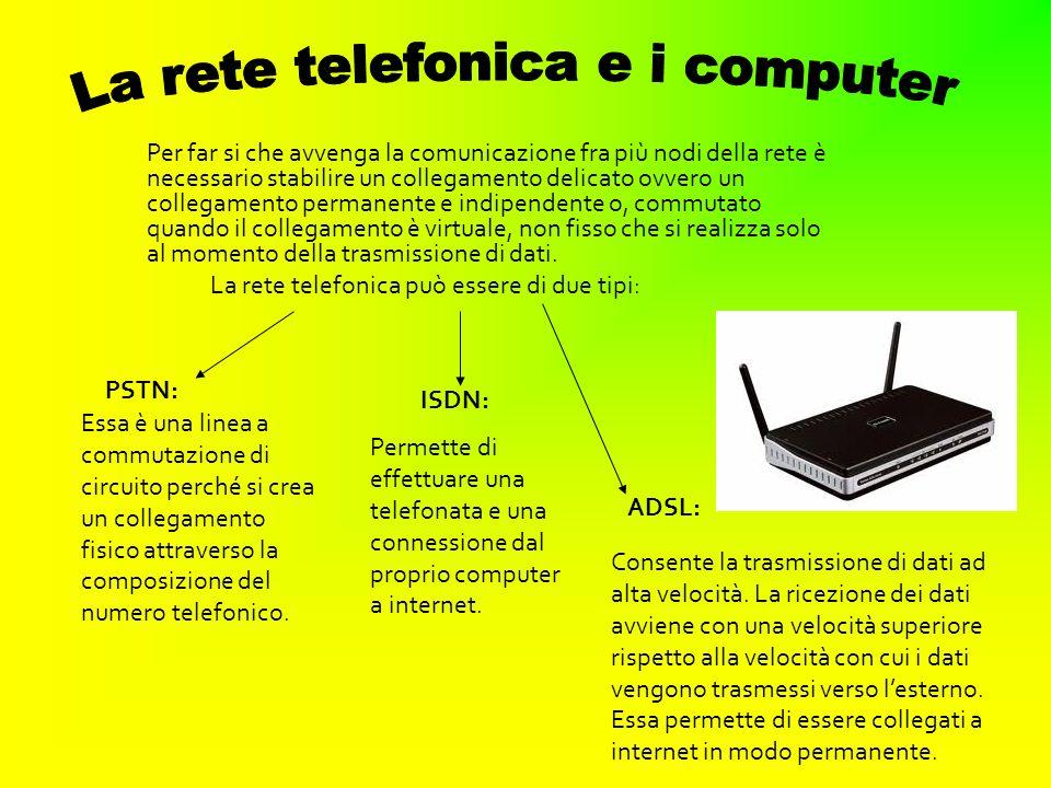 Per far si che avvenga la comunicazione fra più nodi della rete è necessario stabilire un collegamento delicato ovvero un collegamento permanente e in