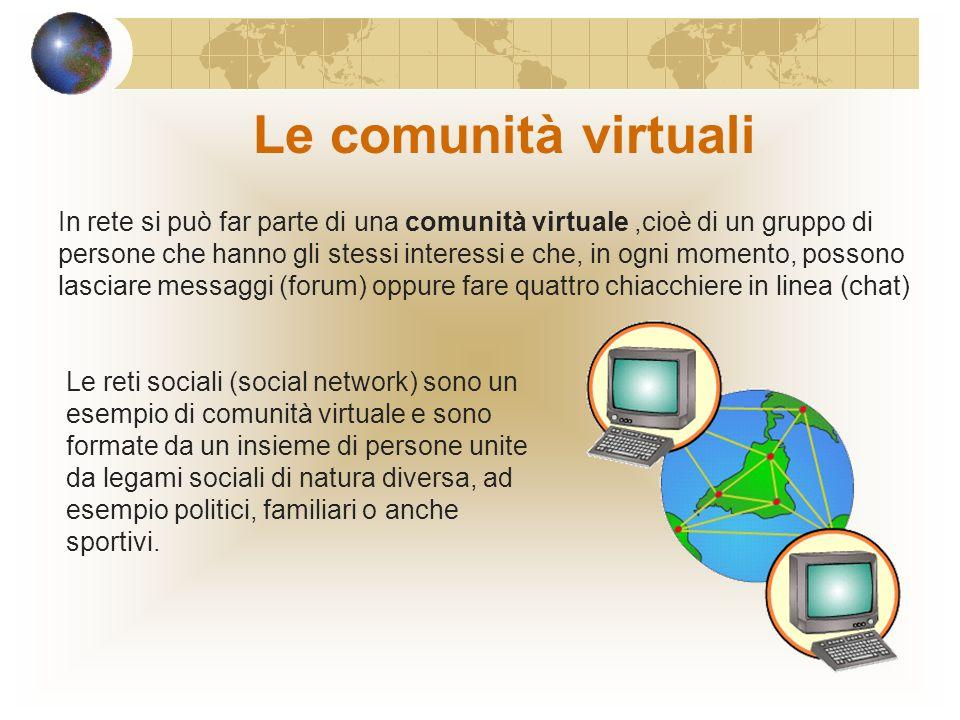 La comunicazione nel mondo elettronico Oltre alla posta elettronica ci sono altri servizi offerti dalla rete: la messaggistica istantanea (IM) che con