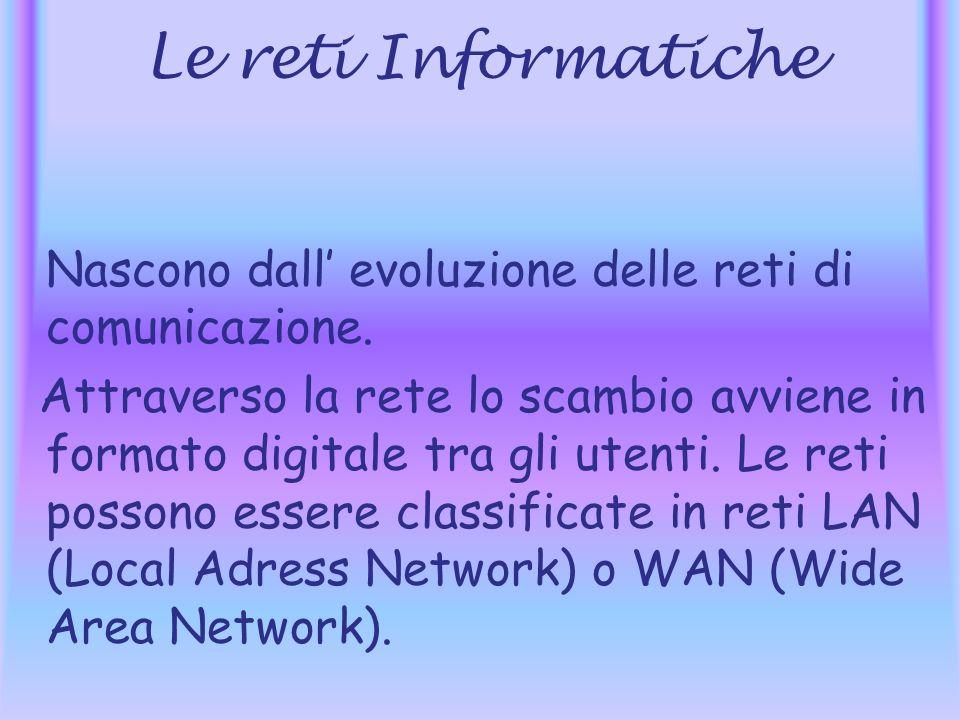 Le reti Informatiche Nascono dall evoluzione delle reti di comunicazione.