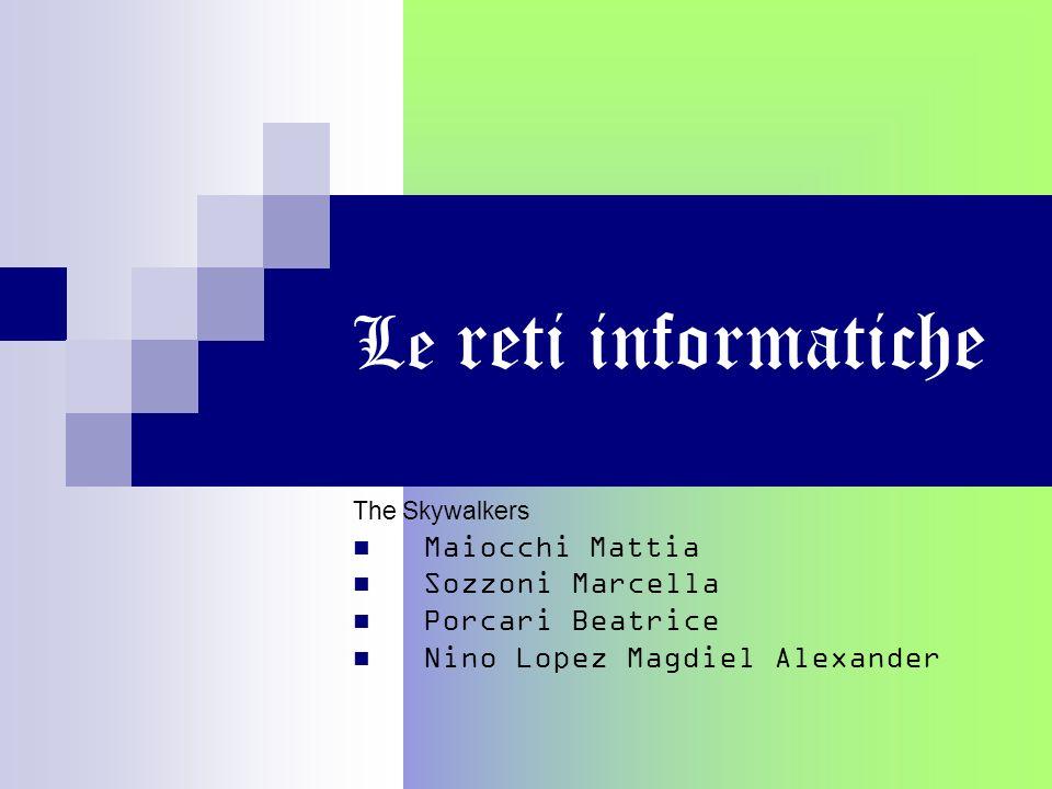 le reti informatiche Le reti di comunicazione hanno permesso una maggiore diffusione delle informazioni che possono essere trasmesse e ricevute da diverse postazioni in luoghi in cui servono.