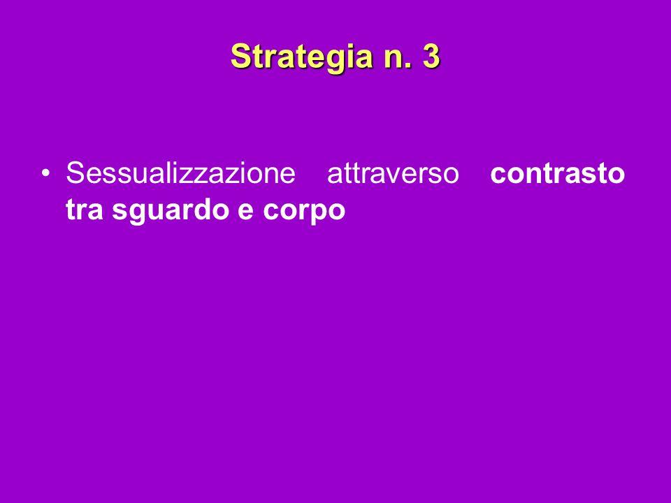 Strategia n. 3 Sessualizzazione attraverso contrasto tra sguardo e corpo