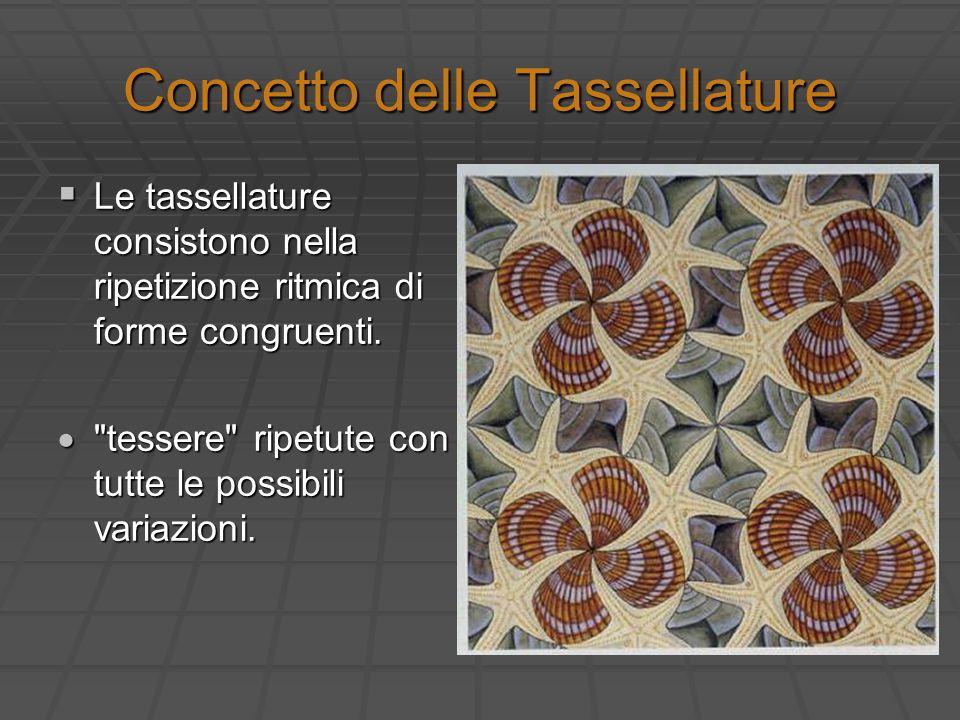 Concetto delle Tassellature Le tassellature consistono nella ripetizione ritmica di forme congruenti. Le tassellature consistono nella ripetizione rit