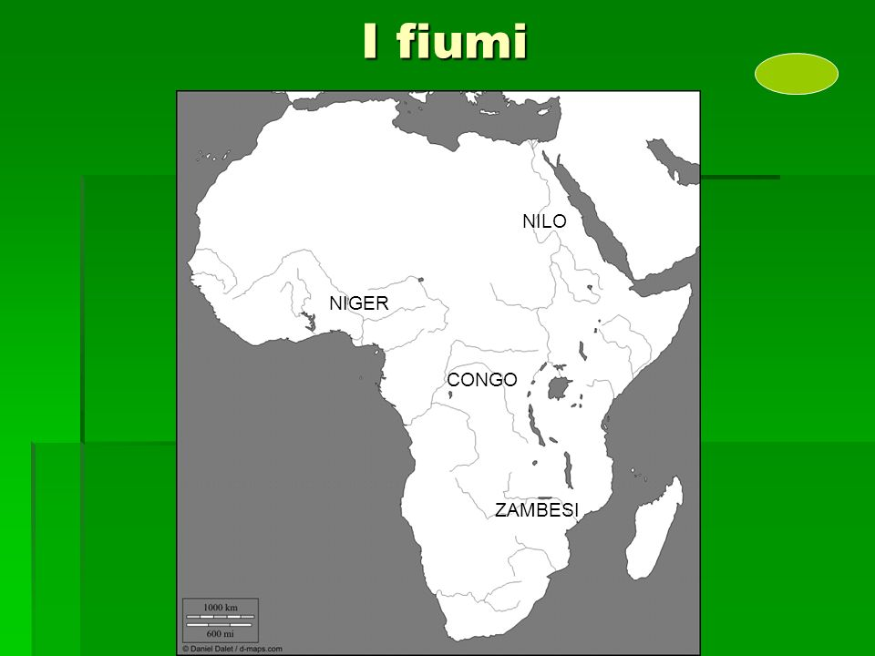 I fiumi NILO CONGO NIGER ZAMBESI