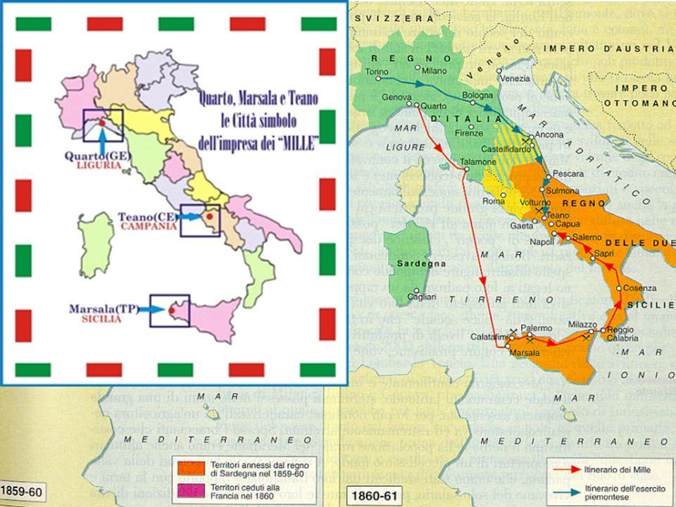 La proclamazione del Regno dItalia Nel gennaio 1861 si svolsero le elezioni per il nuovo Parlamento con il successo dei moderati Il 17 marzo 1861 fu proclamata la nascita del Regno dItalia Vittorio Emanuele II fu proclamato re dItalia Cavour morì il 6 giugno 1861