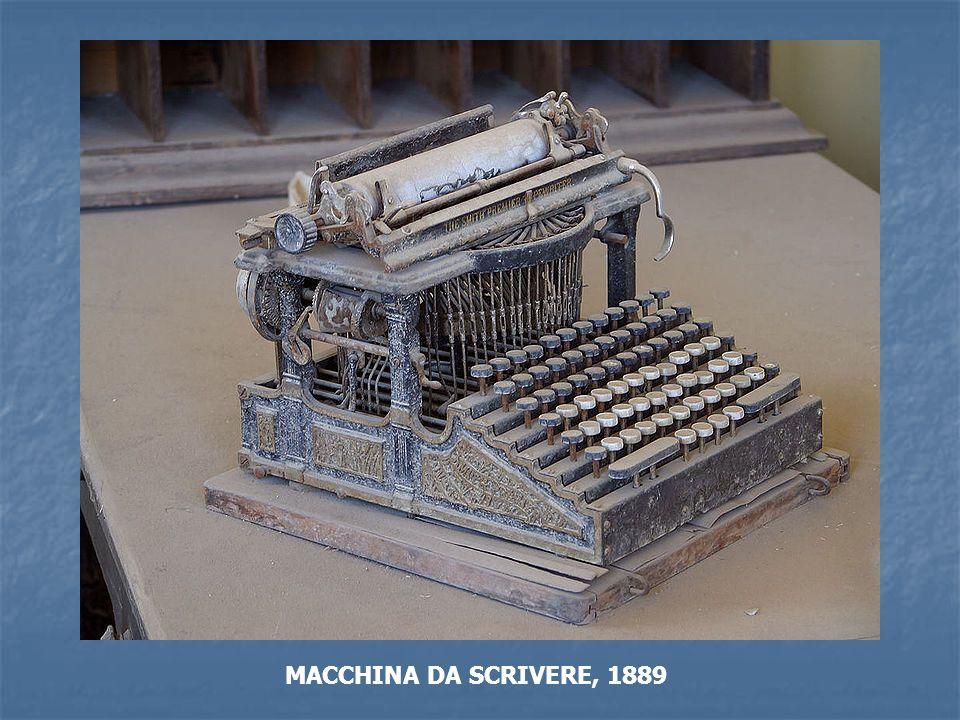 MACCHINA DA SCRIVERE, 1889