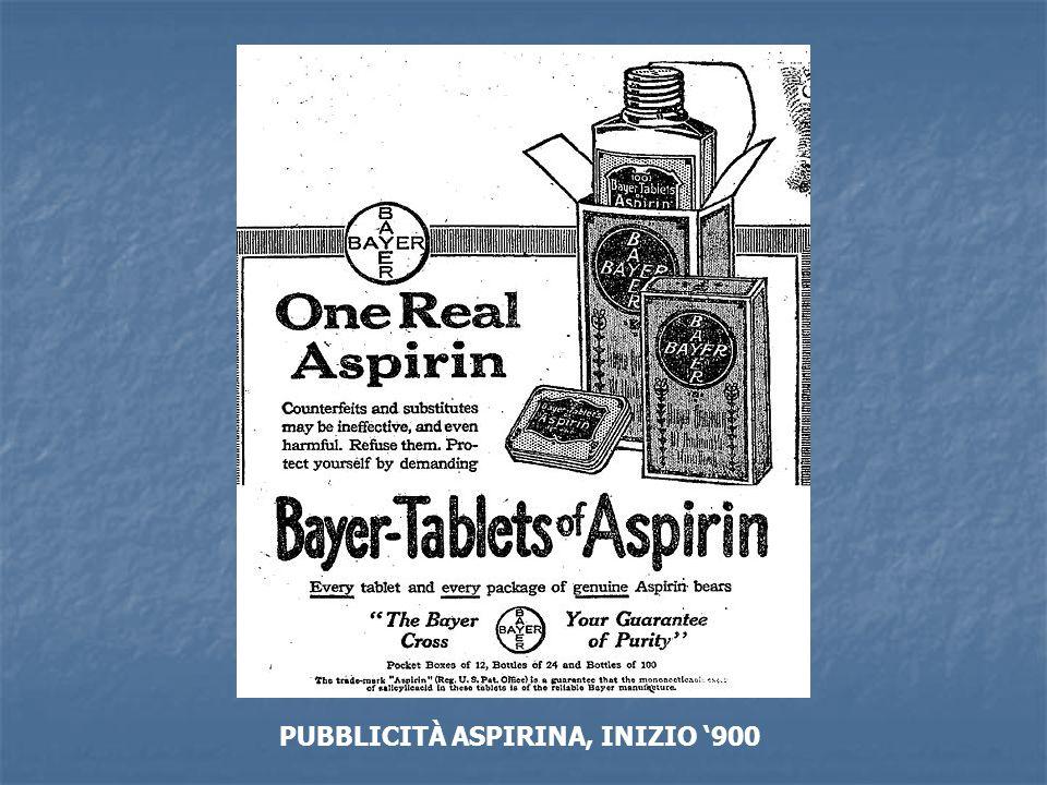 PUBBLICITÀ ASPIRINA, INIZIO 900