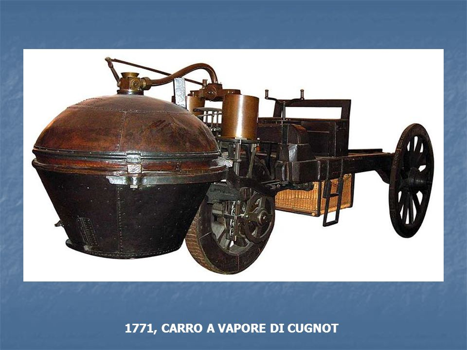 1771, CARRO A VAPORE DI CUGNOT
