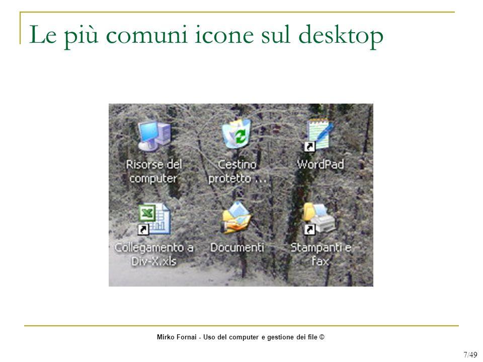 Le più comuni icone sul desktop Mirko Fornai - Uso del computer e gestione dei file © 7/49